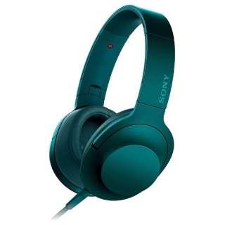 ヘッドホン h.ear on ビリジアンブルー MDR-100ALC [リモコン・マイク対応 /φ3.5mm ミニプラグ /ハイレゾ対応]