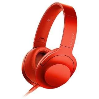 ヘッドホン h.ear on シナバーレッド MDR-100ARC [リモコン・マイク対応 /φ3.5mm ミニプラグ /ハイレゾ対応]