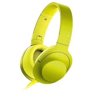ヘッドホン h.ear on ライムイエロー MDR-100AYC [リモコン・マイク対応 /φ3.5mm ミニプラグ /ハイレゾ対応]