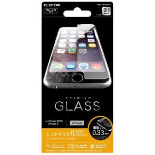 iPhone 6s/6用 液晶保護ガラス 0.33mm PM-A15FLGG03