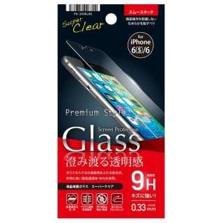 iPhone 6s/6用 液晶保護ガラス スーパークリア透過率96% PG-I6SGL01