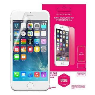 iPhone 6s/6用 USG Clear Ultimate Screen Guard 光沢 P4436