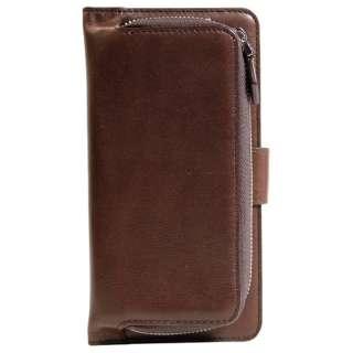 iPhone 6s/6用 コインケース付 手帳型ケース 本革 カードポケット付 ブラウン OWL-CVIP602C-BR