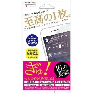 iPhone 6s/6用 ハイブリッドフィルム マット Hi6S-AG