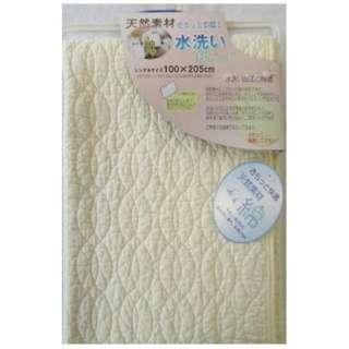 【敷パッド】水洗い敷きパッド セミダブルサイズ(120×205cm/アイボリー)