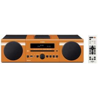 【ワイドFM対応】Bluetooth対応 ミニコンポ(オレンジ) MCR-B043 D