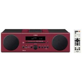 【ワイドFM対応】Bluetooth対応 ミニコンポ(レッド) MCR-B043 R