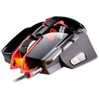 CGR-WLMR-700 ゲーミングマウス 700M ブラック&レッド  [レーザー /8ボタン /USB /有線]
