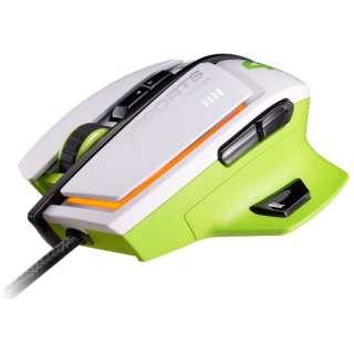 CGR-WLMW-600 ゲーミングマウス 600M ホワイト&ライムグリーン  [レーザー /8ボタン /USB /有線]