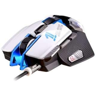 CGR-WLMW-700 ゲーミングマウス 700M ホワイト&ブルー  [レーザー /8ボタン /USB /有線]