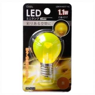 LED電球 装飾用 ミニランプ[口金E17 /1.1W] LDA1Y-H-E17 11C イエロー
