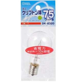 LB-PS4775K-C 電球 ミニクリプトン球 クリア [E17 /電球色 /1個 /一般電球形]