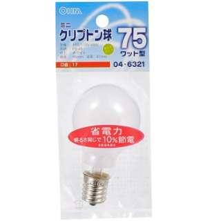 LB-PS4700K-C 電球 ミニクリプトン球 クリア [E17 /電球色 /1個 /一般電球形]