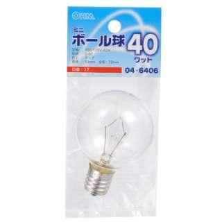 LB-G5740-C 電球 ミニボール球 クリア [E17 /電球色 /1個 /ボール電球形]