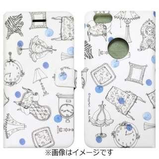 iPhone 6s/6用 手帳型 French Cafe Diary ブルー Happymori HM6645iP6S