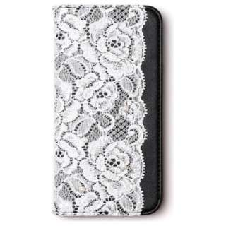 iPhone 6s/6用 手帳型 Lace diary ブラック abbi AB6651iP6S