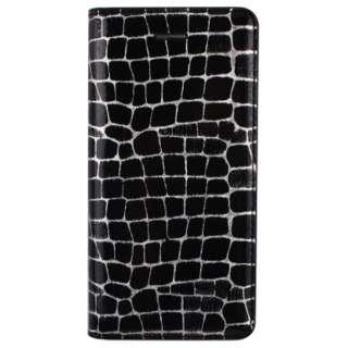 iPhone 6s/6用 手帳型 Hologram Line Croco Diary ブラック GAZE GZ6739iP6S