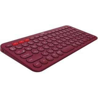 キーボード マルチデバイス レッド K380RD [Bluetooth /ワイヤレス]