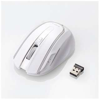 M-WK01DBWH マウス ホワイト  [BlueLED /5ボタン /USB /無線(ワイヤレス)]