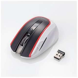 M-WK01DBRD マウス レッド  [BlueLED /5ボタン /USB /無線(ワイヤレス)]