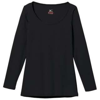 レディース ブレスサーモエブリ アンダーウェア ラウンドネック長袖シャツ(ブラック/Lサイズ)C2JA5801