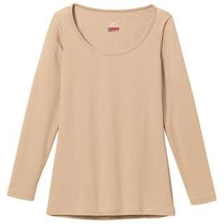 レディース ブレスサーモエブリ アンダーウェア ラウンドネック長袖シャツ(ベージュ/LLサイズ)C2JA5801