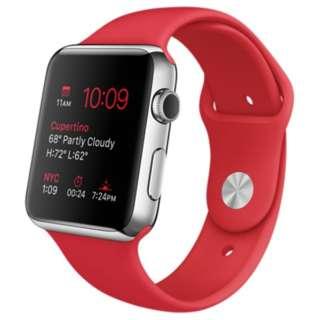 Apple Watch 42mm ステンレススチールケースと(PRODUCT)REDスポーツバンド MLLE2J/A