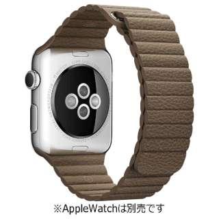 Apple Watch 42mm 用交換バンド ライトブラウンレザーループ - L MJ532FE/A