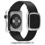 Apple Watch 38mm 用交換バンド ブラックモダンバックル - L MJY92FE/A