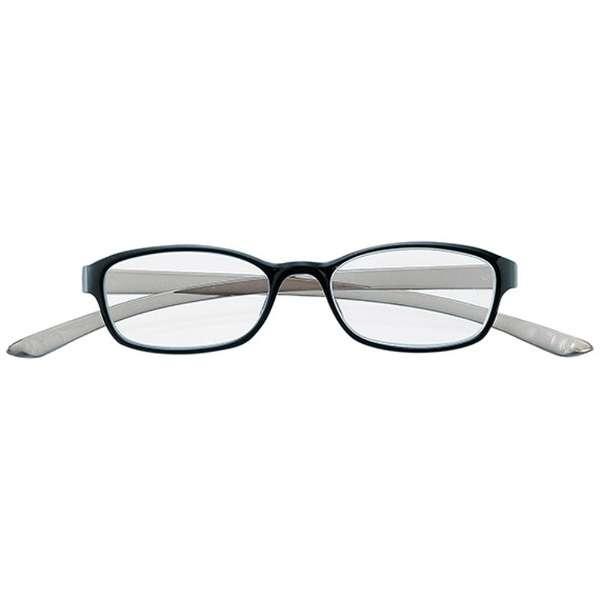 老眼鏡 カカル 4810(ブラック×グレー/+2.50)