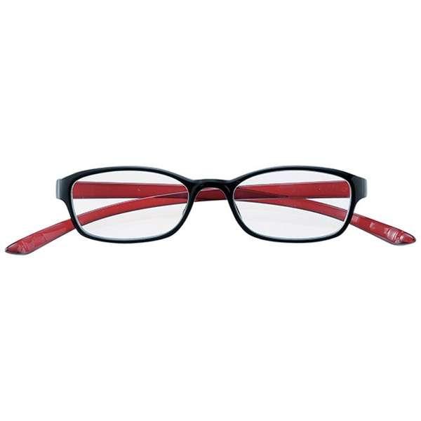 老眼鏡 カカル 4820(ブラック×レッド/+3.00)