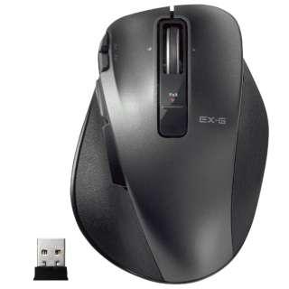 マウス EX-G Ultimate Laser Lサイズ ブラック M-XGL20DLBK [レーザー /無線(ワイヤレス) /8ボタン /USB]