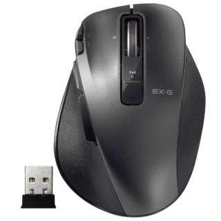マウス EX-G Ultimate Laser Sサイズ ブラック M-XGS20DLBK [レーザー /無線(ワイヤレス) /8ボタン /USB]