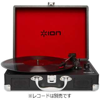 PC接続・iOS直接録音対応レコードプレーヤー(充電池内蔵・スピーカー搭載) Vinyl Motion IATTS018