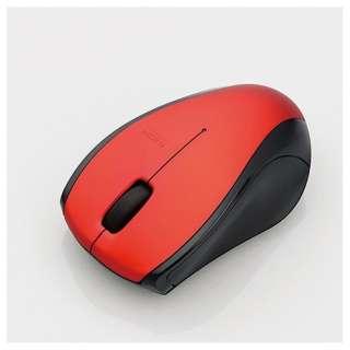 マウス レッド M-BT15BRSRD [無線(ワイヤレス) /IR LED /3ボタン /Bluetooth ]