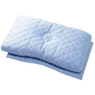 西川 医師がすすめる健康枕 もっと首楽寝 高~中(35×58cm/ブルー)