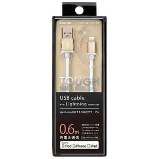iPad / iPad mini / iPhone / iPod対応 Lightning ⇔ USBケーブル 充電・転送 2.4A (0.6m・ゴールド) MFi認証 PG-LC06M03GD