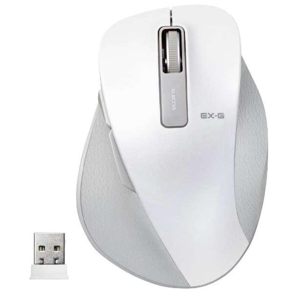 M-XGM10DBWH マウス EX-G M-XGM10DBシリーズ Mサイズ ホワイト  [BlueLED /5ボタン /USB /無線(ワイヤレス)]
