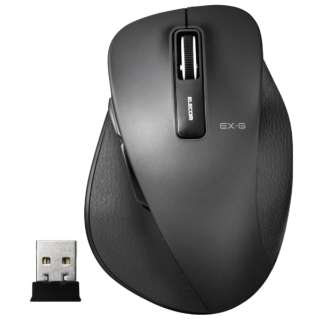 M-XGS10DBBK マウス EX-G M-XGS10DBシリーズ Sサイズ ブラック  [BlueLED /5ボタン /USB /無線(ワイヤレス)]