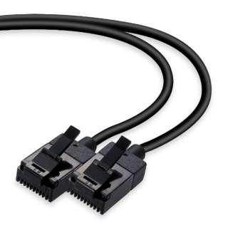 LD-GPSST/BK100 LANケーブル ブラック [10m /カテゴリー6 /スリム]