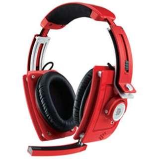 HT-LTM010ECRE ヘッドセット ブレイジングレッド [φ3.5mmミニプラグ /両耳 /ヘッドバンドタイプ]