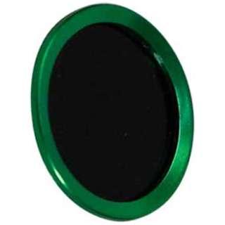 iPhone/iPad対応 指紋認証機能付きホームボタンカバー グリーン/ブラック BKS-HBIP01-GNB