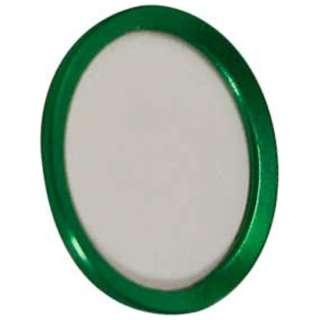 iPhone/iPad対応 指紋認証機能付きホームボタンカバー グリーン/ホワイト BKS-HBIP01-GNW