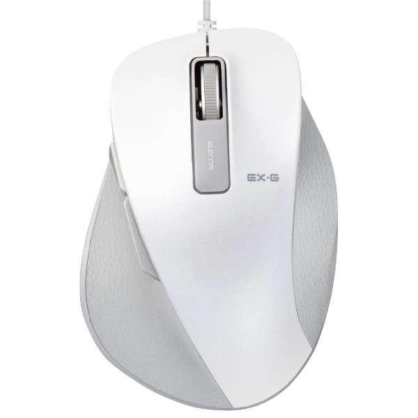 M-XGM10UBWH マウス EX-G M-XGM10UBシリーズ Mサイズ ホワイト  [光学式 /5ボタン /USB /有線]