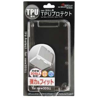 new 3DSLL用 TPUプロテクト(ブラック)【New3DS LL】