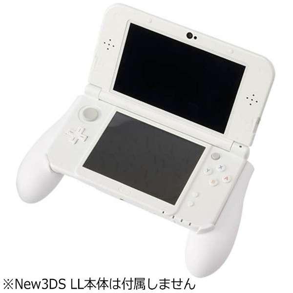 CYBER・ラバーコートグリップ2(New3DS LL用) ホワイト【New3DS LL】