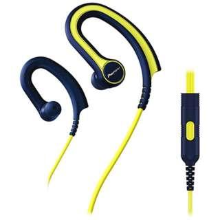 耳かけ型 YELLOW SE-E711T [リモコン・マイク対応 /防滴 /φ3.5mm ミニプラグ]