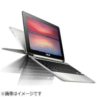 C100PA-RK3288 ノートパソコン Chromebook Flip シルバー [10.1型 /eMMC:16GB /メモリ:2GB /2015年10月モデル]