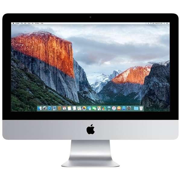 iMac 21.5インチモデル[2015年/HDD 1TB/メモリ 8GB/1.6GHz2コア Core i5]MK142J/A