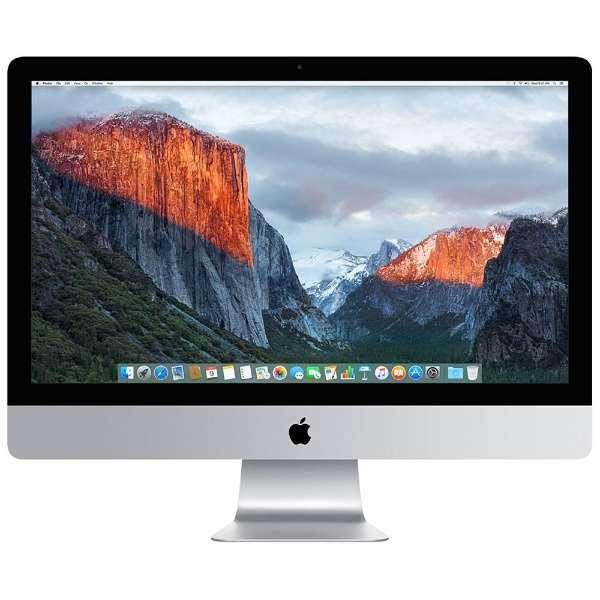 iMac 27インチ Retina 5Kディスプレイモデル[2015年/Fusion 2TB/メモリ 8GB/3.3GHz4コア Core i5]MK482J/A
